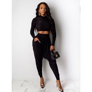2 piece Harlem pants set Diva Boutique Size Large